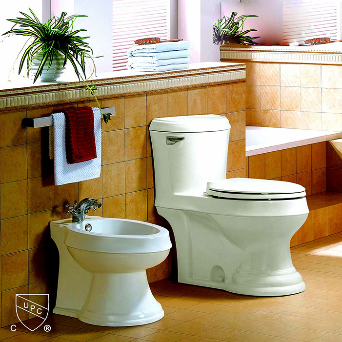 SIPHONIC ONE-PIECE TOILET S-TRAP