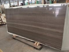 Coffee Brown Wood Marble Big Slab